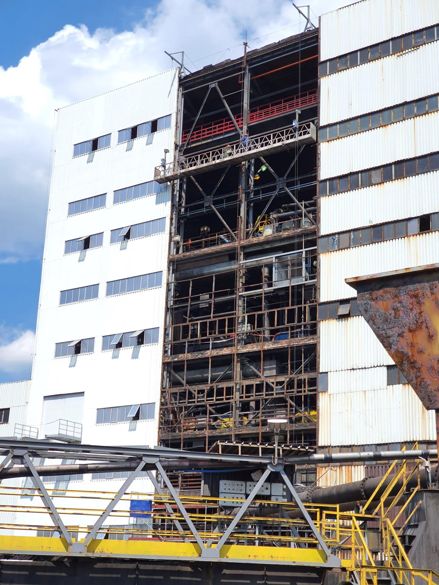 Remont ściany zewnętrznej budynku kompleksowego